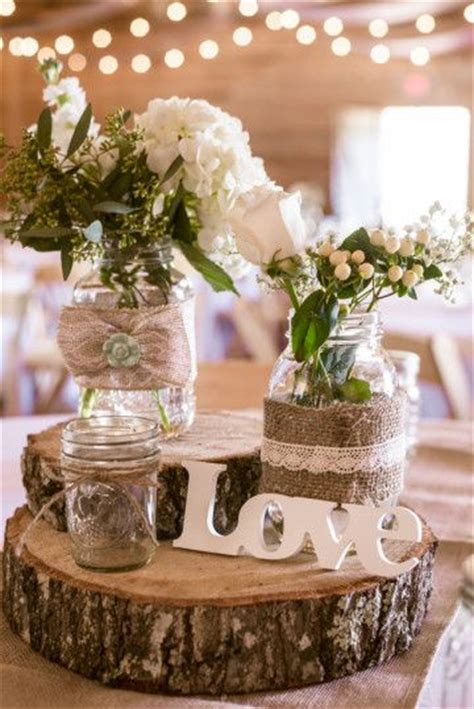 rustic table centerpieces 45 chic rustic burlap lace wedding ideas and inspiration