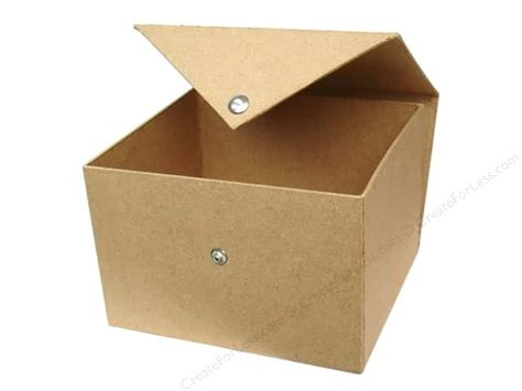 craft paper boxes paper mache square box with snap by craft pedlars