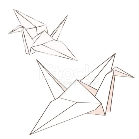 origami bird drawing grue origami photos freeimages