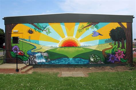 wall murals for schools mural at sacred primary school luton graffiti