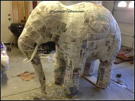 paper mache tutorial on how to make paper mache elephant almost