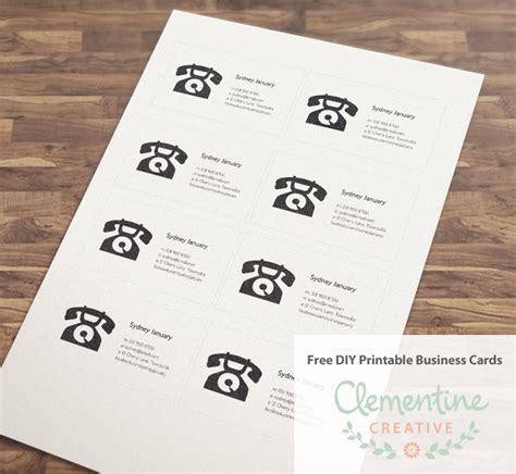 make business cards free and print free diy printable business card template