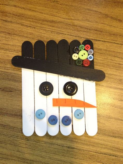 craft stick projects craft stick snowman classroom project crafts for
