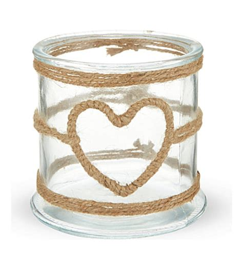 Glass Candle Holder With Rope by Small Rope Wrapped Glass Candle Holder Selfridges