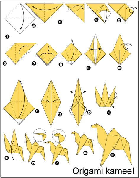 origami camel origami and nativity on