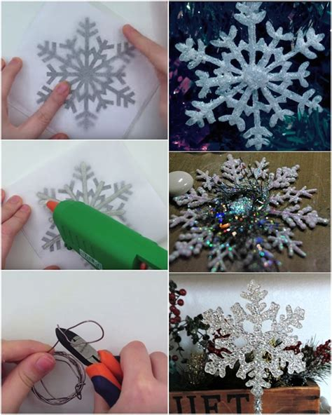 paper and glue crafts diy glue snowflakes diy craft projects