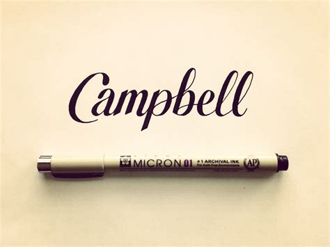 campbell hand lettering by seanwes