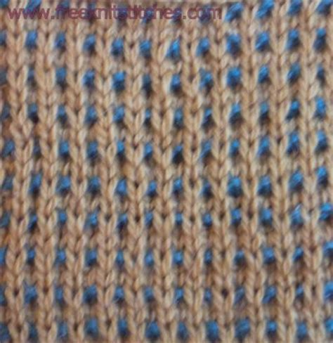 how to knit 2 colors together two color knitting stitches free knitting projects