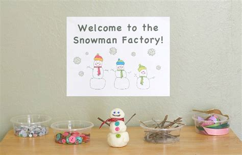 how to make and craft for winter activities for a snowman factory