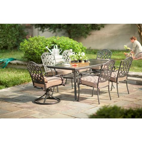 martha stewart patio dining set martha stewart living augusta 7 patio dining set