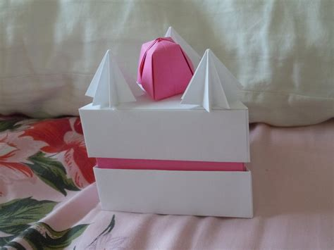 cake origami origami cake box by sugariest on deviantart