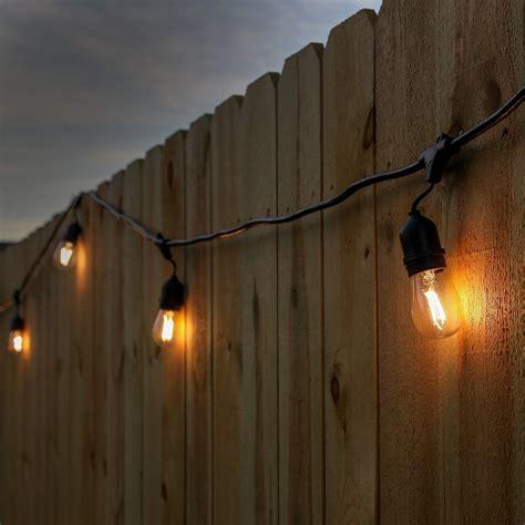 led outdoor lighting string outdoor led string lighting 100 black commercial grade