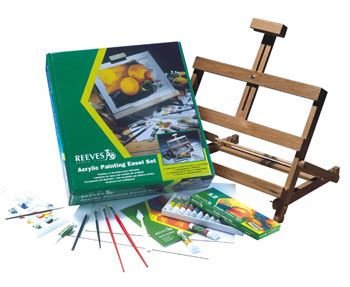acrylic paint easel set reeves acrylic painting easel set