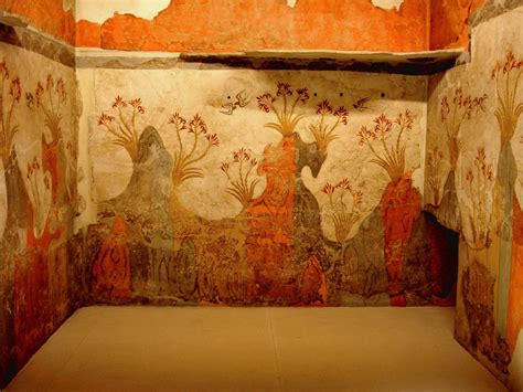 fresco bronze age minoan fresco wall painting of quot quot archaeological