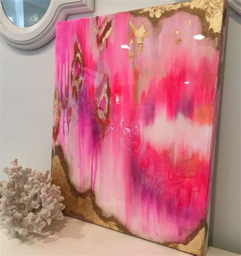 ombre acrylic paint on canvas sold original acrylic abstract painting ikat canvas