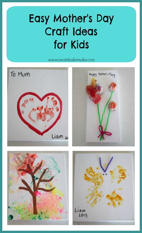 simple mothers day crafts for s day craft for toddlers