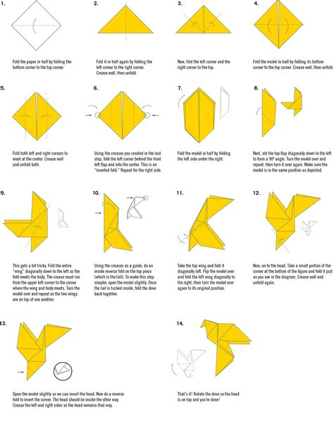 origami dove step by step easy origami dove comot