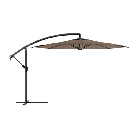 patio offset umbrella shop corliving corliving brown offset patio umbrella