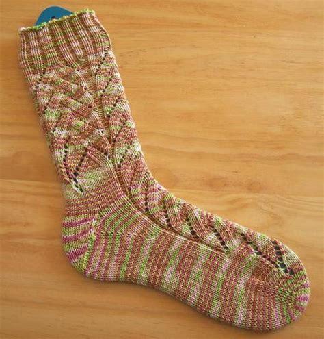 knitting socks toe up knitting pattern toe up socks banana blossom socks