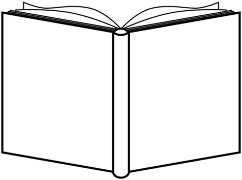 outline picture of a book opened book outline domain vectors