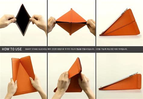 origami picture stand origami inspired smart stand protective sleeve gadgetsin