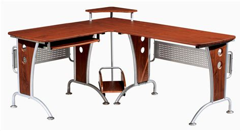 l shaped computer desks techni mobili space saver mahagonay computer l desk for