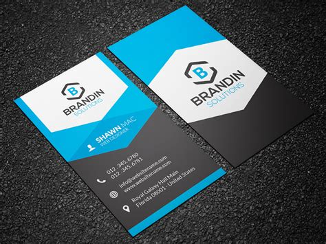 business card modern vertical business card 25 graphic