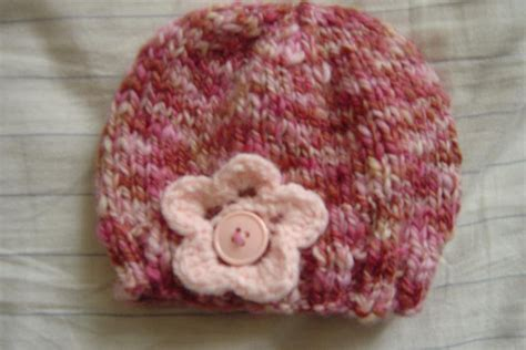 knit flower pattern for baby hat free patterns knit baby hat
