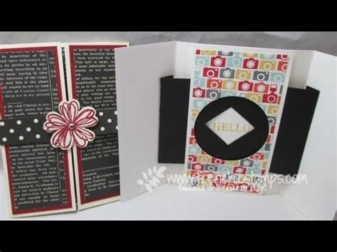 how to make open when cards shutter opening closing greeting card
