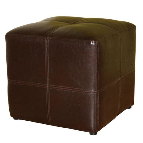 leather cube ottomans leather cube ottoman noche brown bonded leather cube