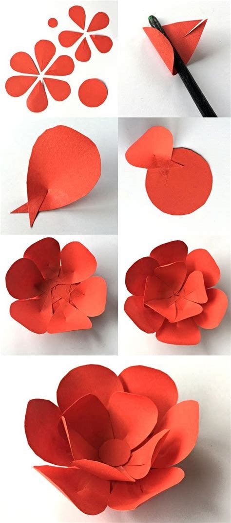how to make a craft paper flower best 25 construction paper flowers ideas on