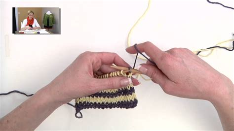 knitting with two colors carrying yarn knitting help carrying colors for stripes