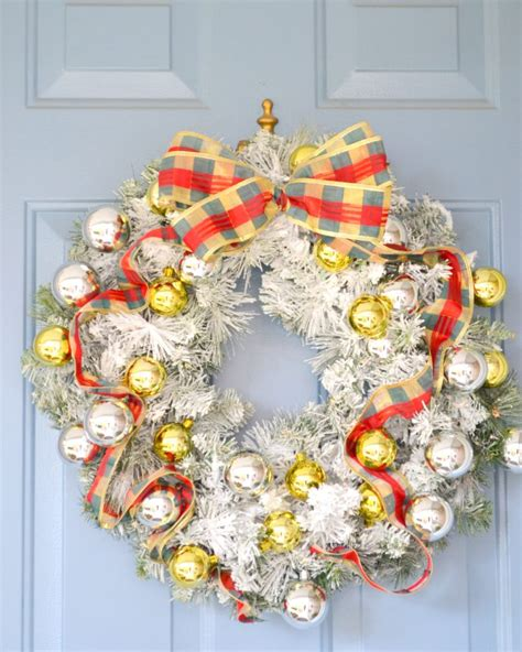 flocked wreath diy flocked wreath the cofran home