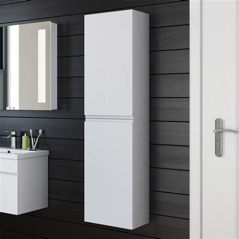 Gloss White Bathroom Cabinets by 1400mm Modern White Gloss Bathroom Furniture Cabinet