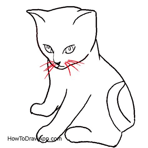 cat step by step how to draw a cat lying brown hairs