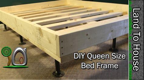 bed frames for size beds size bed frame diy