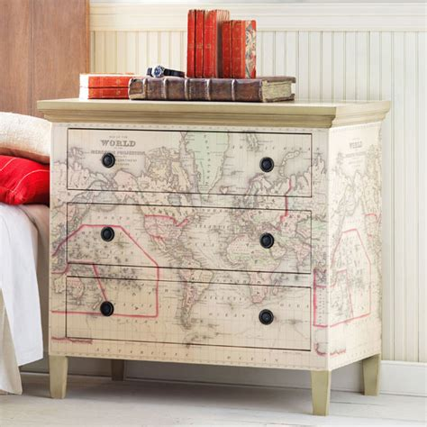 Decoupage Map Wallpaper Dressers Map Decor