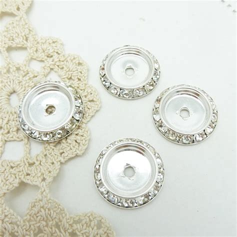 rhinestone for jewelry 4 channel set rhinestone bezel settings for jewelry or button
