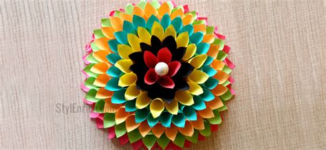 paper craft decoration home wall decoration ideas to make floral craft for your walls
