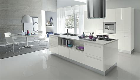 designer white kitchens open modern kitchens with few pops of color