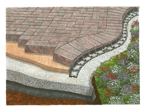paver patio edging barrier zipper galleries barrier paver edging