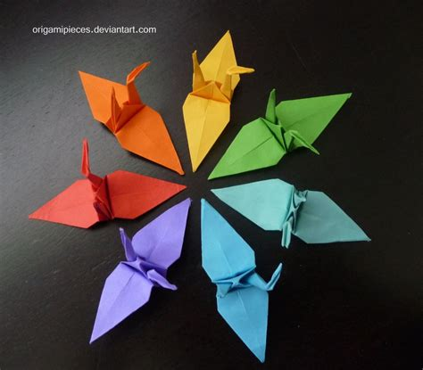 the crane origami origami cranes by origamipieces on deviantart