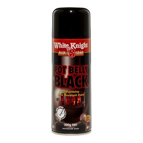 spray paint black white high temp 300g pot belly black spray paint