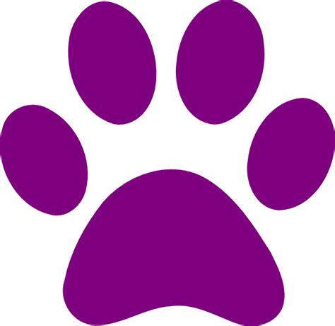 paw print purple paw print clip at clker vector clip