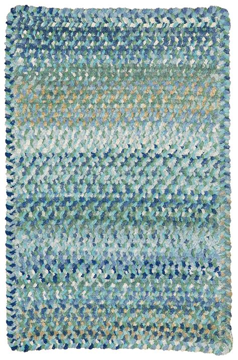 chenille rug light blue ocracoke braided chenille rug cottage home 174
