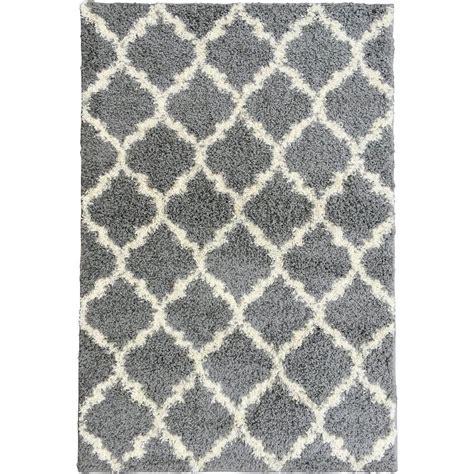 shaggy contemporary area rugs ottomanson ultimate shaggy contemporary moroccan trellis