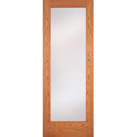 interior glass doors home depot feather river doors 36 in x 80 in 1 lite unfinished oak privacy woodgrain interior door slab