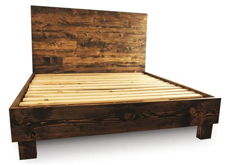 wood bed frames with headboard rustic wood platform bed frame and headboard by pereidarice