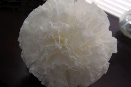 coffee filter paper crafts 14 best photos of martha stewart paper flower balls