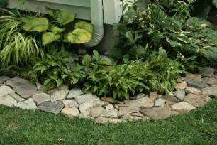 outdoor gardening rock edging flower bed borders